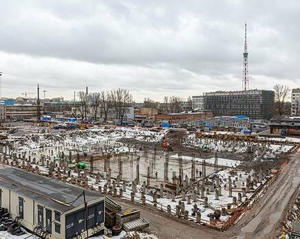 ЖК ЦДС «Черная речка», Апрель 2021