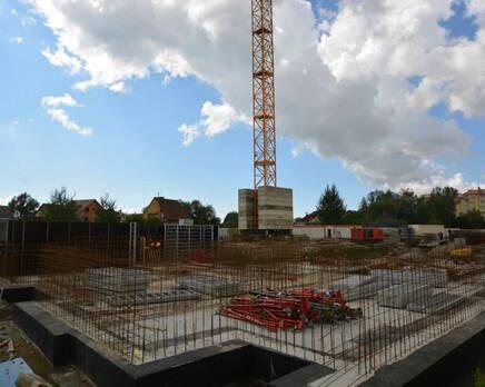 Строительство дома №1. Август 2014 г., Сентябрь 2014