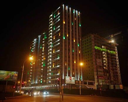 Подсветка жилого комплекса, Сентябрь 2014