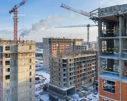 ЖК «Панорама парк Сосновка»:  ход строительства корп. 1, Февраль 2021