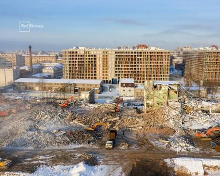 ЖК «Панорама парк Сосновка»:  ход строительства корп. 2, Февраль 2021
