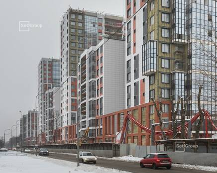 ЖК «Стрижи в Невском»: ход строительства корпус 1, Февраль 2021