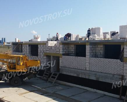 Малоэтажный ЖК «на улице Гурьевская»: ход строительства, Сентябрь 2016