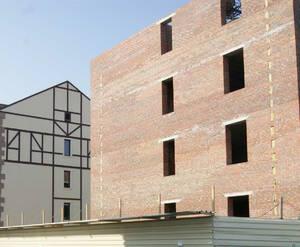Строительство домов II очереди. Октябрь 2014 г.