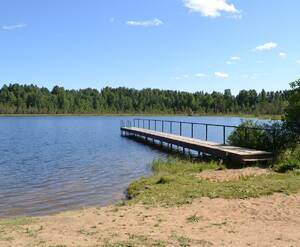 Озеро у КП «Лемболово Парк»