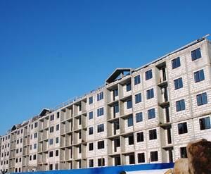 Жилой комплекс «Солнце»: ход строительства (фасад)