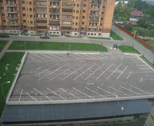 ЖК «Берег»: вид на парковку сверху