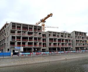 ЖК «Balchug Viewpoint»: Возведение монолитных конструкций 6-го этажа и устройство парапета кровли, устройство внутренних стен и перегородок в надземной части