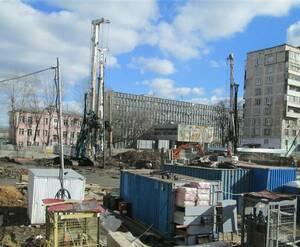 ЖК на Душинской улице: строительная площадка