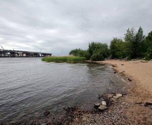 МФК на Приморском проспекте: береговая линия строительного участка