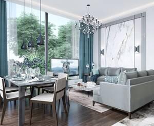 МФК Gatchina Gardens: визуализация, отделка жилья, стиль Арт-Деко