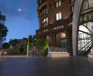ЖК Barcelona: визуализация, общий вид (ночь)