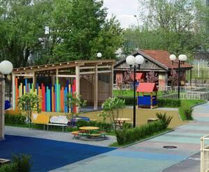 ЖК «ART»: детская площадка на территории комплекса