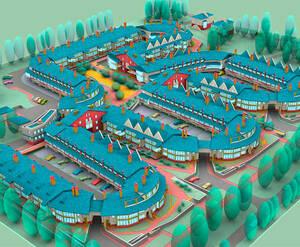 <p>План застройки жилого комплекса «Дубки»</p>