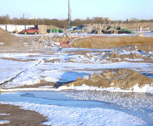 Строительная площадка жилого комплекса «Магеллан» (10.03.2013)