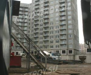 Строящийся фасад дома ЖК «Победитель» (10.05.2013 г.)