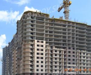 Ход строительства ЖК «Пулковский 2» (июль 2014)