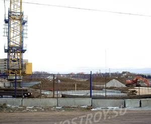 Стройплощадка в январе 2014 года.