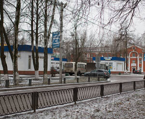 Автостанция в районе ЖК «Ладожский берег» (05.12.2014)