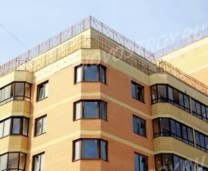 ЖК «Никольский квартал»: 13.04.2015 - Фрагмент строящегося корпуса, торец, верхние этажи