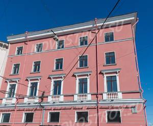 МФК «Невский, 68»: фасад здания со стороны набережной (08.06.2015)