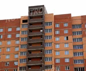 ЖК «Квадро»: 09.09.2015 - Фрагмент строящегося корпуса, верхние этажи