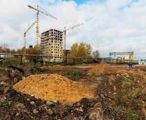 ЖК «River Park, корп. 6-8»: 12.10.2015 Вид на строительство со стороны реки Клязьма