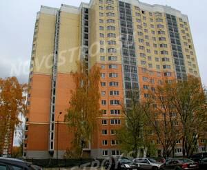 ЖК «Микрорайон №25 в Балашихе»: 20.10.2015 - Строящийся дом, близок к завершению, вид с Московского проезда