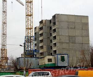 ЖК «Дом в Ивантеевке»: 21.11.2015 - Корпус на стадии возведения средних этажей