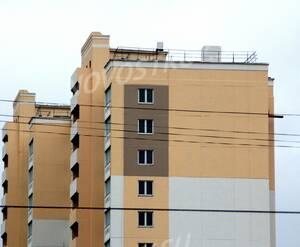 ЖК «Дом в Ивантеевке»: 21.11.2015 - Фрагмент построенного корпуса, верхние этажи с торца