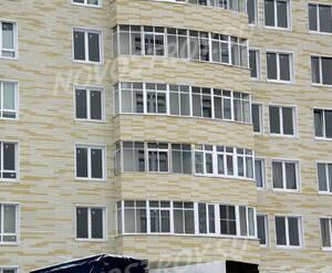 ЖК «на улице Бусалова»: 24.11.2015 - Фрагмент построенного дома, средние этажи