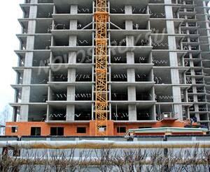 ЖК «на улице Комсомольская»: 09.12.2015 - Фрагмент строящегося корпуса