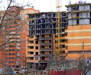 ЖК «Калужский»: 20.12.2015 - Фрагмент строящегося дома