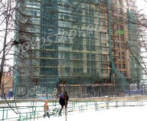 ЖК «Дом на Самаринской»: 02.02.2016 - Фрагмент строящегося корпуса