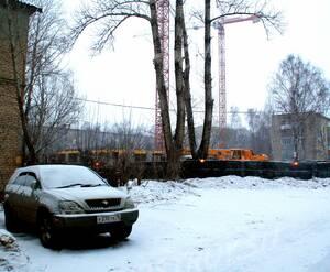 ЖК «Влюберцы»: 06.02.2016 - Корпус 3 на стадии возведения нижних этажей. Строительство прочих корпусов еще не начато