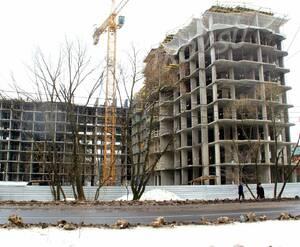 ЖК «Нахабинский»: 09.03.2016 - Строящиеся корпуса 2 и 3