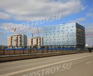 МФК «Лахта Плаза»: общий вид с  Приморского пр. (11.03.2016)
