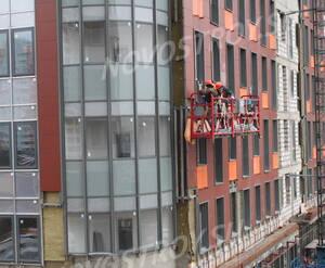 ЖК «Ленинградский»: фасадные работы в корпусе 2