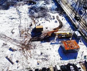 ЖК «Полёт» (Щёлково): огороженная строительная площадка