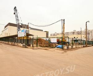 ЖК «Дом на Вешняковской»: въезд на строительную площадку