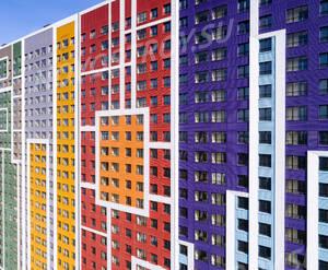 ЖК «Эталон-Сити»: фрагмент фасада (фото из группы «Вконтакте»)