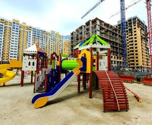 ЖК «Видный берег»: детская площадка на территории комплекса