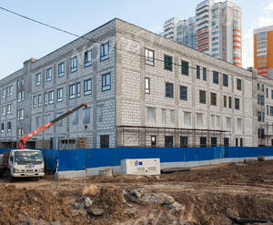 ЖК «Левобережный»: ход строительства поликлиники