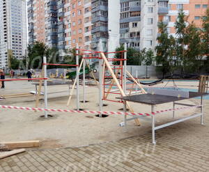 ЖК «Ленинградский»: спортивная площадка на территории комплекса