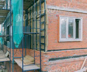ЖК «Внуково 2017»: отделка фасада корпуса 11 (фото из группы «Вконтакте»)