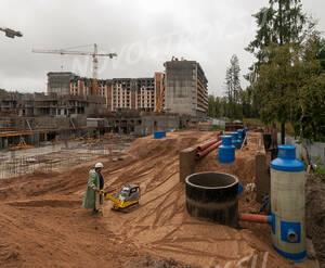 ЖК «Ломоносовъ» (Петродворцовый): ход строительства очистных сооружений