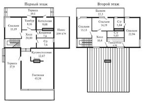 КП «Суходольское», планировка 5-комнатной квартиры, 271.80 м²