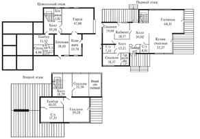 КП «Суходольское», планировка 5-комнатной квартиры, 565.20 м²