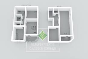 МЖК «Петербургское Садовое кольцо», планировка 2-комнатной квартиры, 153.74 м²