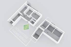 МЖК «Петербургское Садовое кольцо», планировка 3-комнатной квартиры, 172.97 м²